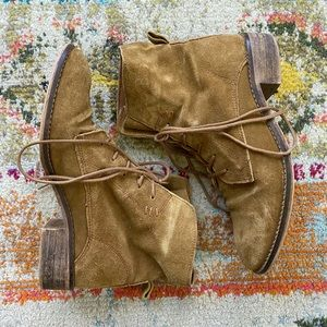 Steve Madden Ransley Suede Cognac Boots | Size 8.5